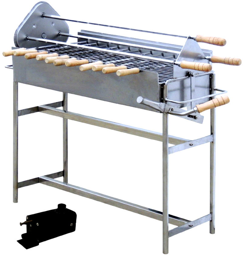 New Electric Rotary Rotisserie Charcoal Spit Kabob Gyro
